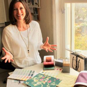 Elaine, owner of A Box of Tricks Interior Design in Salisbury