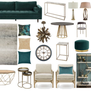 Digital moodboard with statement pieces